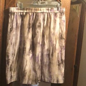 Chico's size 2 lined skirt with elastic waist
